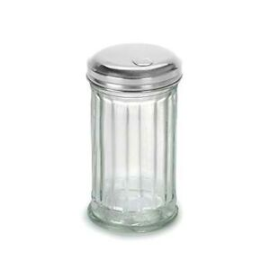Anchor Hocking 97286 Glass Sugar Shaker with Stainless Steel Lid