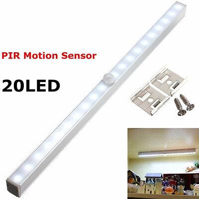 20 LED Bright PIR Motion Sensor Light Cabinet Wardrobe Drawer Lamp Wireless New