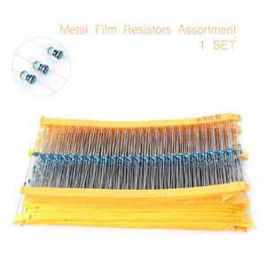 2425pcs Metal Film Resistors 97 Valves 1//8W Assorted Assortment Kit 1/%