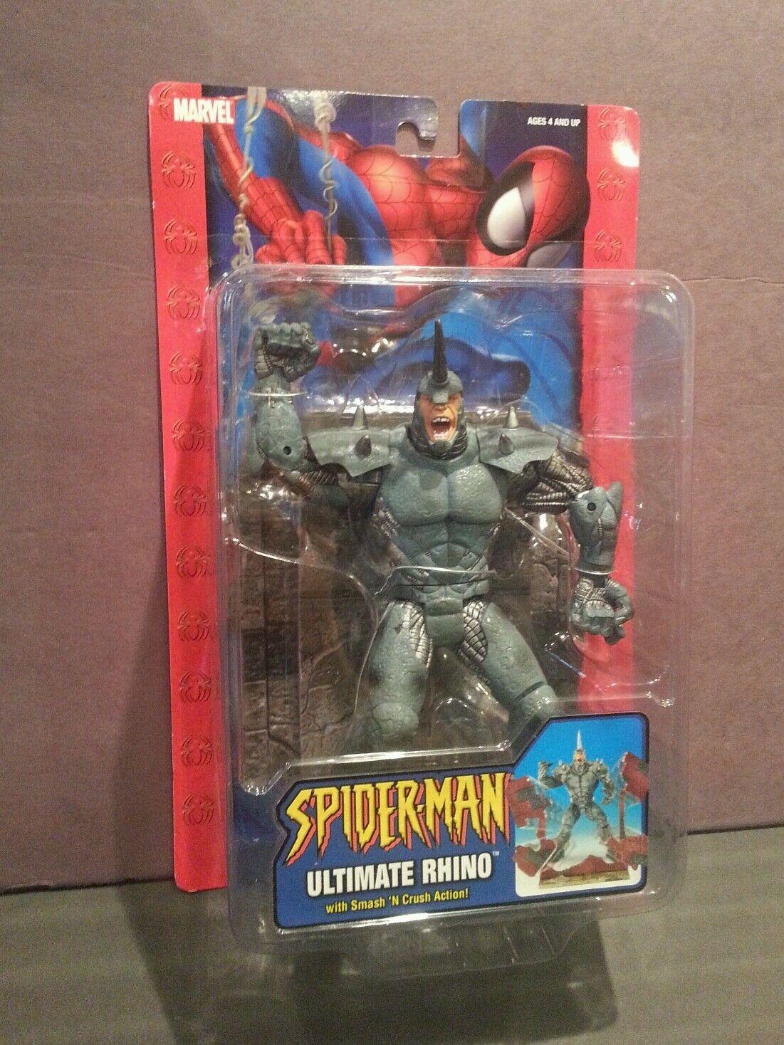 Nuevo Ultimate Rhino acción figura menta en paquete sin abrir ToYBiz 2004 Spider-Man