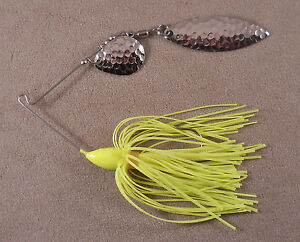 Bass Fishing Lure DR Custom Spinnerbait 3//8 oz With 1 Plastic Colorado Blade