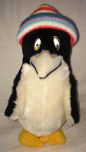 "Sea World Dakin Penguin Plush W/ Beanie Hat Stuffed Toy Vtg San Fran CA 1981 12"""