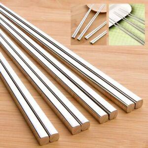 Food-Chopstick-Stainless-Steel-Kitchen-Dinnerware-Utensil-Metal-Eco-friendly-New