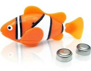 ROBO FISH ORANGE KIDS GADGET WATER ACTIVATED REAL LIFE LIKE TOYS UK SELLER