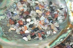 1-4-LB-Tumbled-Mix-Chips-5-10mm-Reiki-Healing-Crystals-Amethyst-Quartz-Fluorite