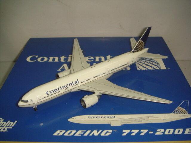 protección post-venta Gemini Jets 400 Continental Airlines Airlines Airlines Co B777-200ER  1991s Color  1 400  despacho de tienda