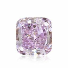 0.06ct Natural Loose Fancy Intense Purple Pink Color Diamond GIA Cushion SI1
