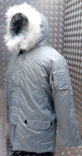 N3b Snorkel Parka New Style All Us Military bikers Mod Grey Ecw Sizes scooter TqUCqId
