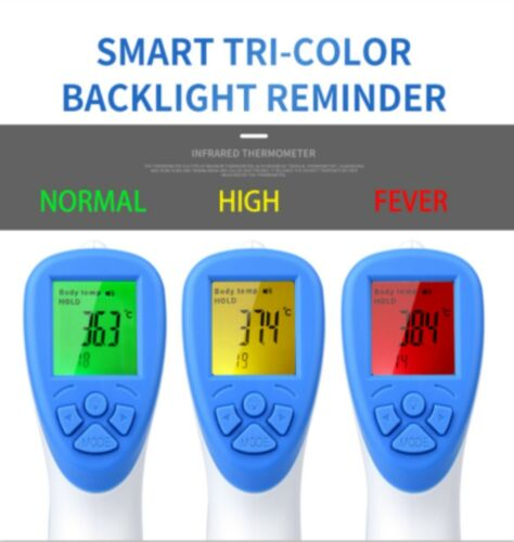 Non Contact Infrared Digital Forehead Thermometer Kids /& Adult Temperature FDA/_