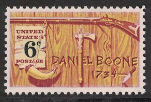 Scott-1357-Daniel-Boone-Frontiersman-Americano-Folklore-6c-MNH-1968-Nuevo