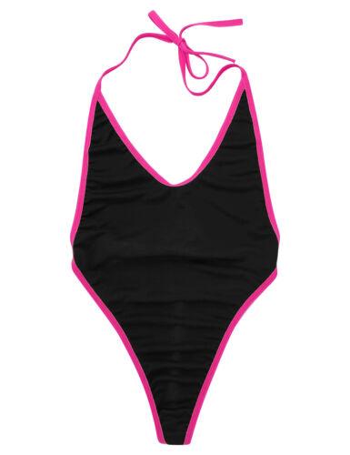 Womens One-piece Mini Bikini Lingerie Set Self-tie G-string Monokini Swimsuit