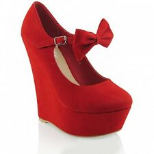 BNWB Essex Glam Platform wedge mary jane red shoes size 3