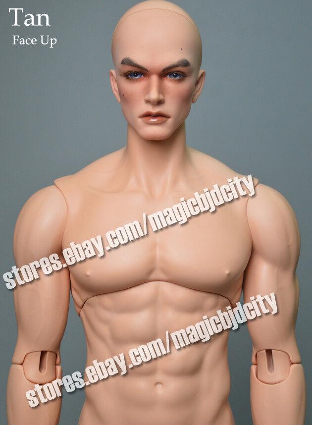 Resina arte muñecas 1 3 guapo gran hombre libre ojos blythe --- tan Piel Cuerpo Muscular