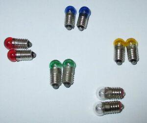 Ersatzlampen-6mm-Kugel-Farbig-E5-5-19V-Farbe-nach-Wahl-10-Stueck-NEU