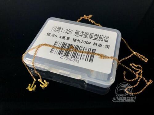 1//350 Metal Anchor /& Chain H: 8.4mm 2pcs for Heavy Cruiser length: 20cm
