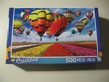 500 pc Puzzle, Puzzlebug: Hot Air Balloons & Flower Field, Brand New & Sealed