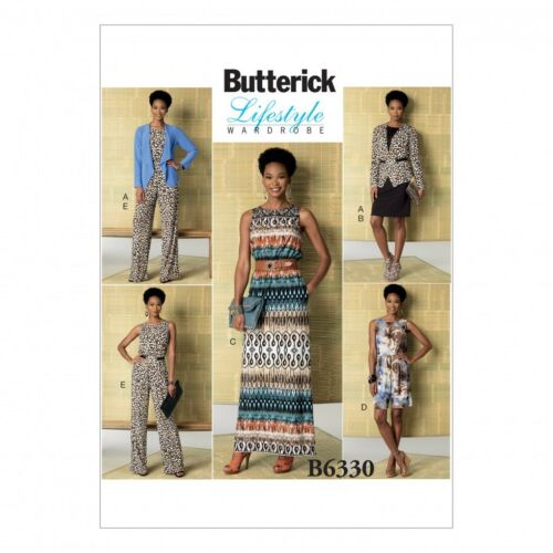 Romper... Butterick Ladies Easy Sewing Pattern 6330 Jacket Elastic Waist Dress