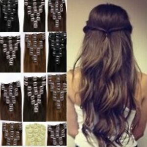 Clip in synthetic hair extensions fake full head 1pc half brown image is loading clip in synthetic hair extensions fake full head pmusecretfo Choice Image