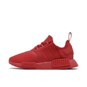 Men-039-s-adidas-NMD-Runner-R1-Casual-Shoes-Scarlet-Scarlet-Scarlet-FV9017-610-Size