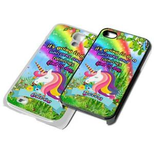 cheap for discount 16043 46383 Details about UNICORN custom name PERSONALISED Phone Cover for iPhone  Samsung 4 5 6 7 6th case