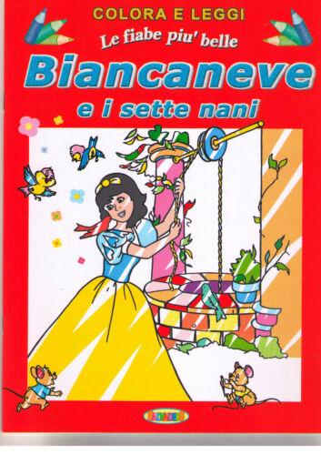Biancaneve e i 7 nani. Colora e leggi le fiabe - Salvadeos - Nuovo in Offerta!