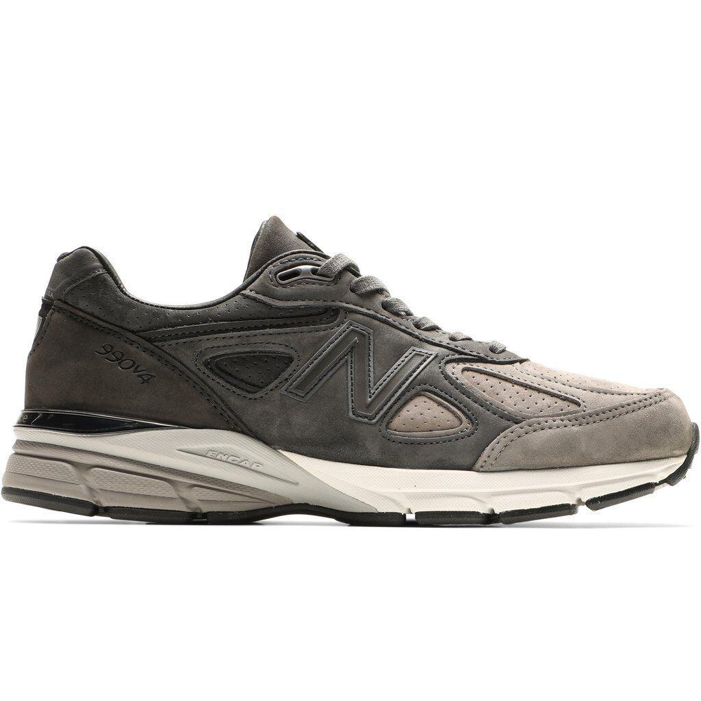 New Balance 990 v4 Made In USA grigio nero Men Lifestyle scarpe Dad gym M990FEG4
