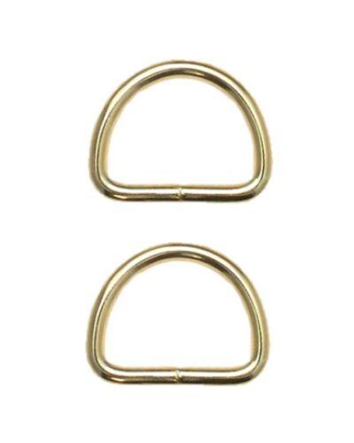 0120 Halbring D-Ring 38mm gold 2 Stück