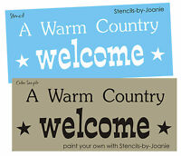 Stencil Warm Country Welcome Cowboy Western Decor Farm Ranch Craft Sign U Paint