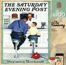 1000 SATURDAY EVENING POST JIGSAW PUZZLE THE RUNAWAY NORMAN ROCKWELL