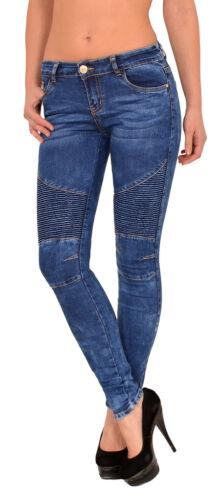 Femmes Motard Jeans pantalon skinny jeans stretch hüftjeans skinny biker look z112