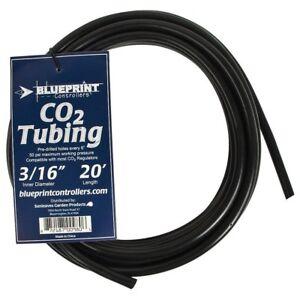 "Fish & Aquariums Blueprint Co2 Tubing 3/16"" Id 20ft Length Pre-drilled Holes"