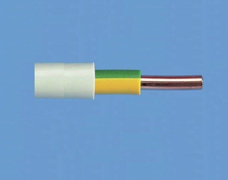 NYM-J Mantelleitung 1x10 mm²  Erdungsleitung massiv grün gelb VDE (  m) | Qualitätsprodukte