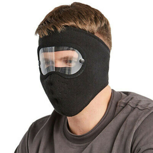 Facial Protection Anti-Fog Dust-Proof Protection Headgear w// Removable Goggles