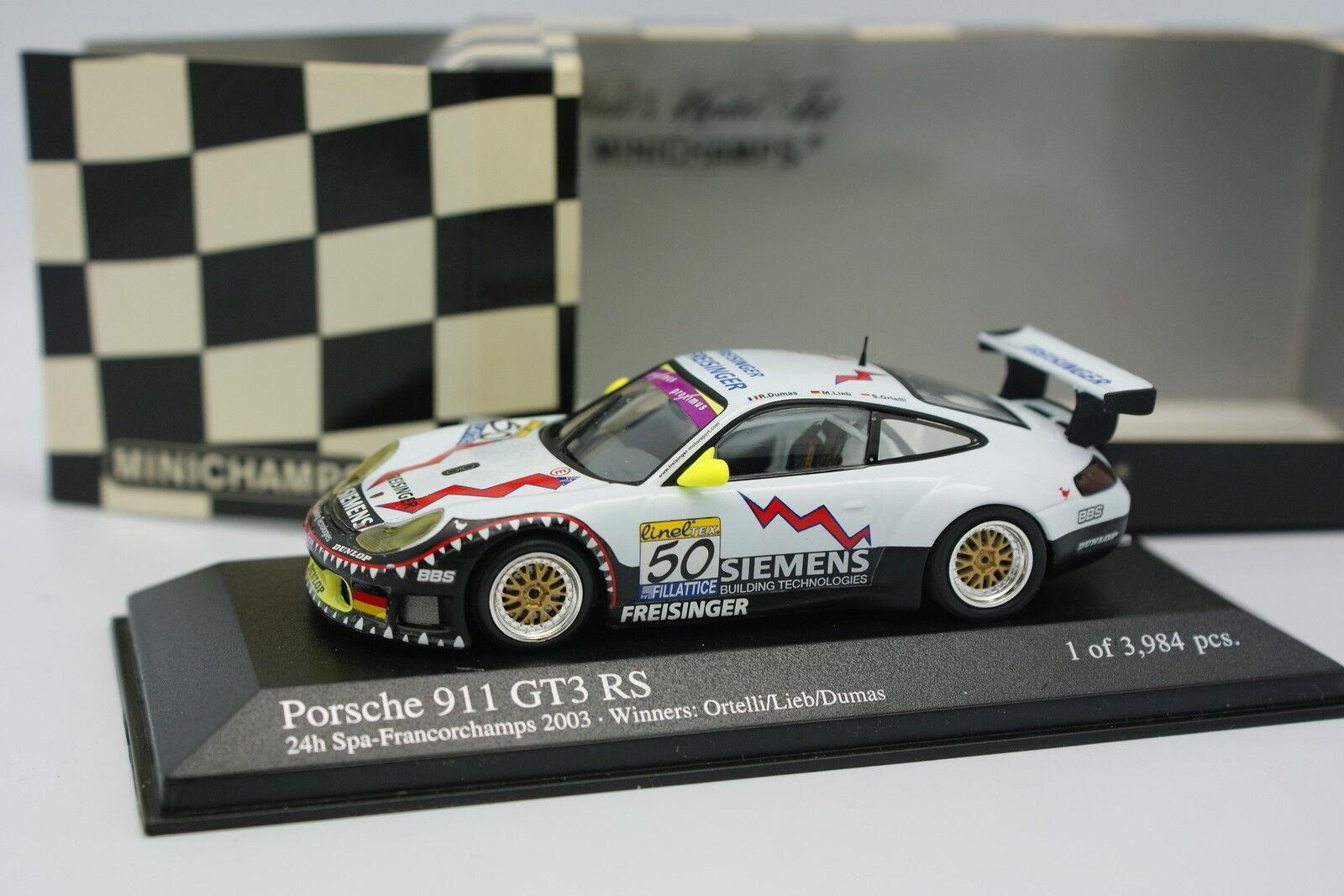 Minichamps 1 43 - Porsche 911 GT3 RS Spa Francorchamps 2003 n°50