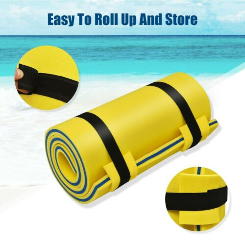 """Water Pad 3-Layer Relaxing Foam Floating Pad Tear-Resistant 83/"""" x 26/"""" Yellow NEW"""