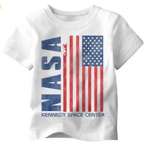 NASA Girls T Shirt TOP School ASTRONAUT AMERICAN FLAG USA NEW Size 3 3T RP $20