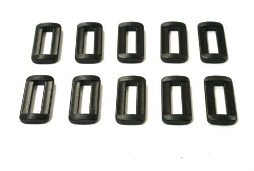 Hebillas de bucle de Barra de plástico 25mm 2 para las correas de las correas bolsas Crafts x10 x25 x50 x100