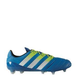Details zu adidas ACE 16.1 FGAG Leather Leder Fußballschuhe blaugrünweiß [AF5098]