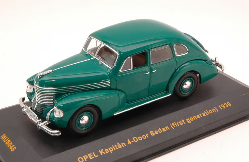 Opel kapitän 4 türen limousine der ersten generation 1939 grüne 1 43 modell ixo - modell