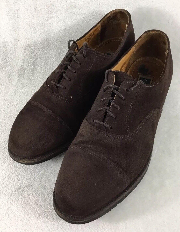 Cole Haan Men's Brown Suede Leather Cap Toe Dress Size Shoes w/ Vibram Soles Size Dress 9 D 81581a