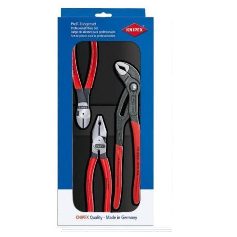 Knipex Zange Zangenset Zangen Set Kraft-Paket 3-tlg. 002010