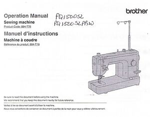 brother pq1500sl pq1500slprw sewing machine users guide instruction rh ebay com brother ls14 sewing machine user guide brother sewing machine operation manual
