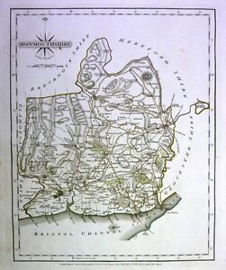 Antique-map-Monmouthshire