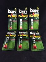 6x Krazy Glue 1 Super Glue Maximum Bond Precision Tip Wood & Leather