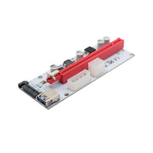 3in1-Molex-4Pin-SATA-6PIN-PCI-E-Riser-Card-PCI-Express-1-to-16x-Extender-Adapter