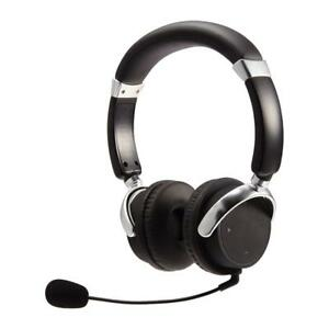 Nexxtech Bluetooth Stereo PC Headset with On-Ear Controls & Detachable Boom Mic