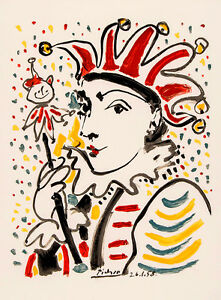 Pablo-Picasso-harlequin-canvas-print-giclee-8X12-amp-12X17-reproduction-art-poster