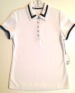 Tail-Short-Sleeve-Golf-Shirt-White-w-Black-Trim-Small