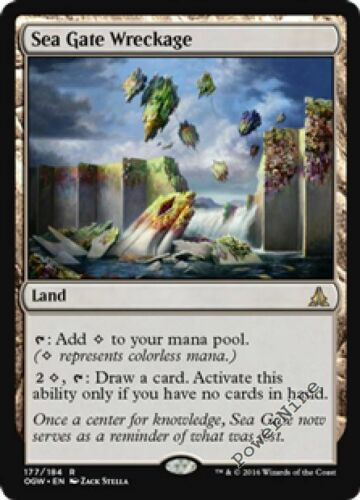 Land Oath of the Gatewatch Mtg Magic Rare 1x x1 1 FOIL Sea Gate Wreckage