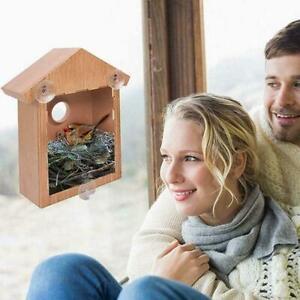 Bird House Window Birdhouse With Suction Cups Outdoor Bird Feeder Bird Nest F4E4